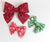 Simply Ellie Large Buffalo Check Snowflake Bow