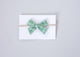 Simply Ellie Green Plaid Cotton Bow