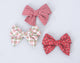 Simply Ellie Green & Red Plaid Cotton Bow