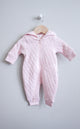 Purebaby Quilted Growsuit Pale Pink Melange