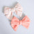 Simply Ellie Bright Orange Gingham Cotton Bow