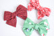 Simply Ellie Red Snowflake Cotton Bow