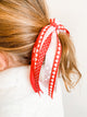 Simply Ellie Heart Ribbon Ponytail Holder