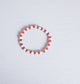 Simply Ellie White and Red Bracelet