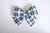 Simply Ellie Large Navy and White Plaid Bow