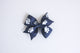 Simply Ellie Navy & White Paw Print Bow