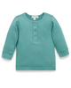 Purebaby Moss Ribbed Henley Top
