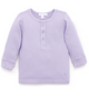 Purebaby Lilac Ribbed Henley Top