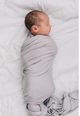 Mebie Baby Stone Gray Stretch Swaddle