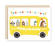 The Beautiful Project School Bus Birthday Card