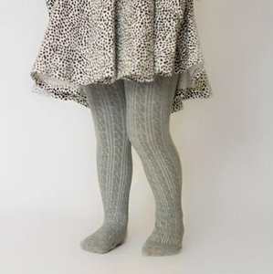 gray cable knit christmas stocking