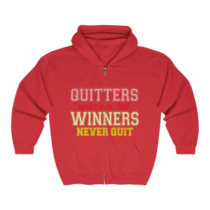 Quitters Never Win, But Winners Never Quit