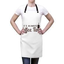 Load image into Gallery viewer, It's Always Coffee Time apron