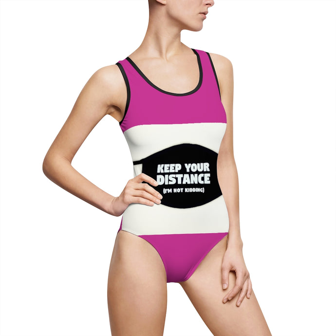 Keep Your Distance in this Women's Classic One-Piece Swimsuit