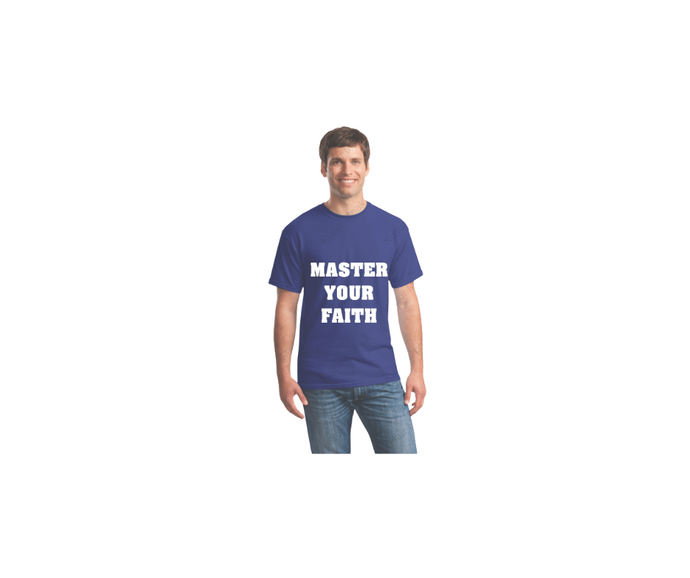 Master your Faith in this casual T-shirt.