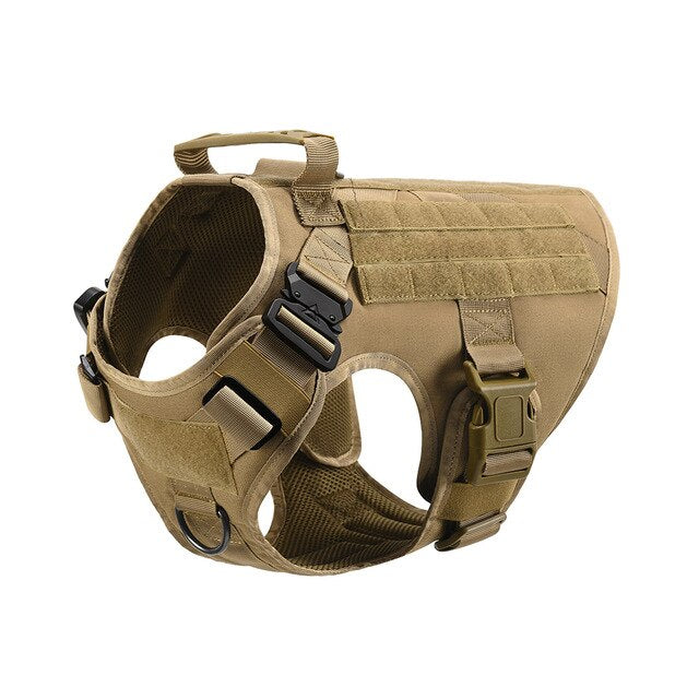 Pets-Tactical Dog Harness with Handle No-pull Large Military Dog Vest US Working Dog