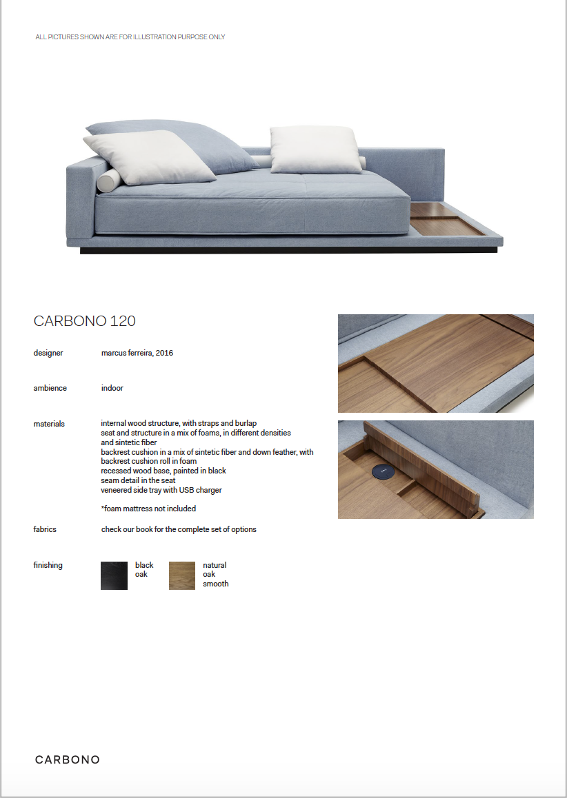 CARBONO 120 - SOFA BED