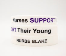 Load image into Gallery viewer, Pack of Nurses Support Their Young Wristbands