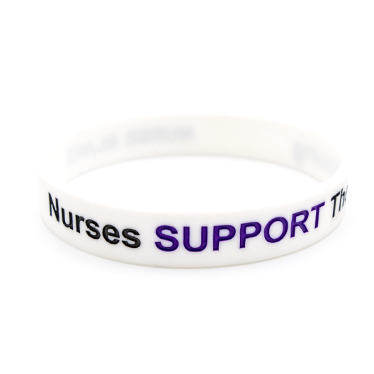 Pack of Nurses Support Their Young Wristbands