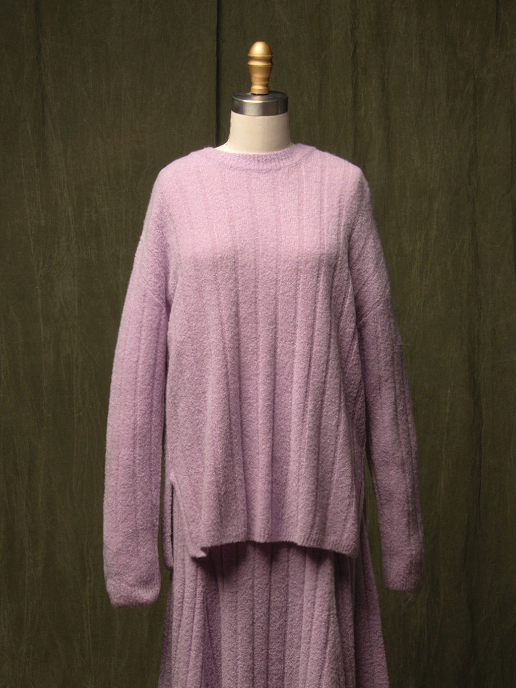 Cashmere Boucle Sweater_Lilac