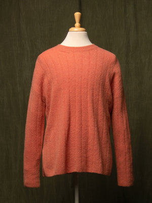 Cashmere Boucle Sweater_Orange Ice