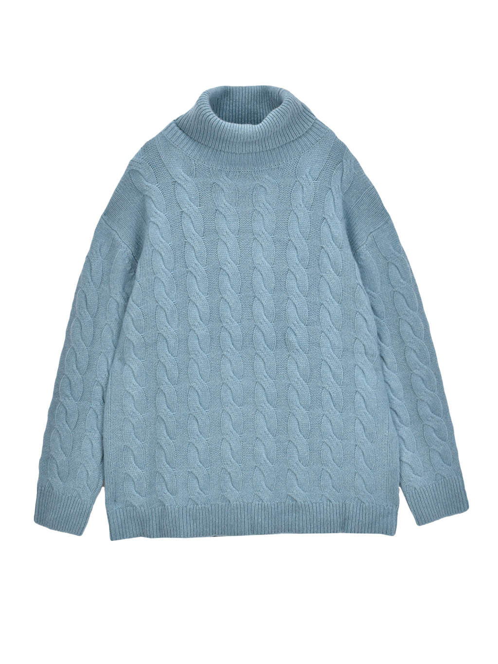 Classic Cable Knit Tunic_Steel Blue