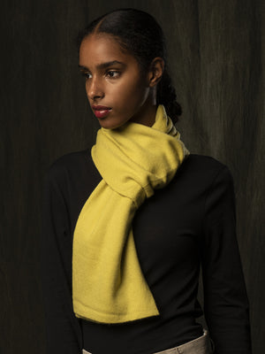 Classic Cashmere Scarf_Lime