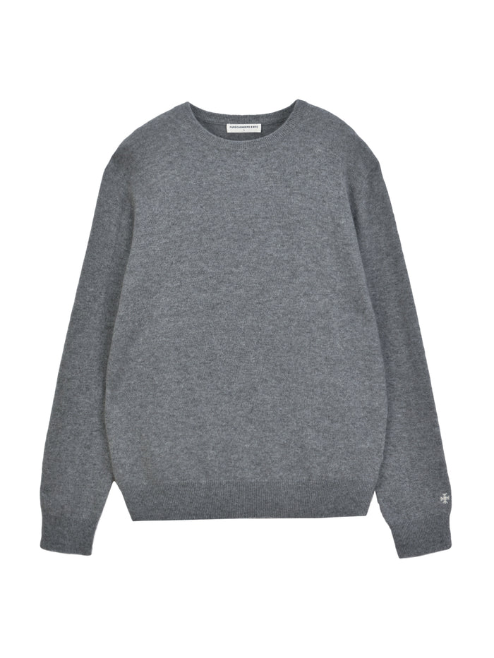Men Crew Neck Sweater_Deep Grey
