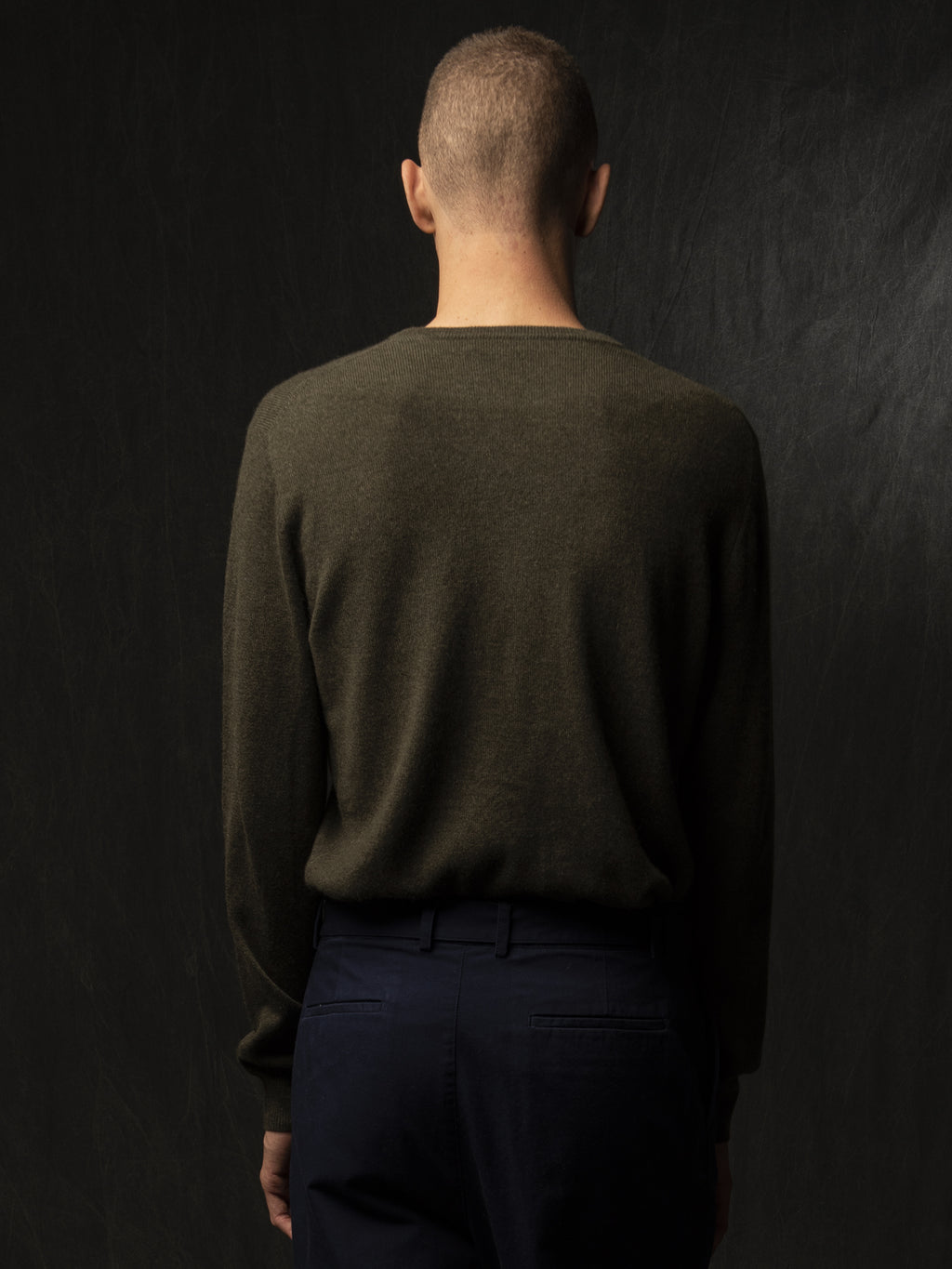 Men Crew Neck Sweater_Hunter Heather
