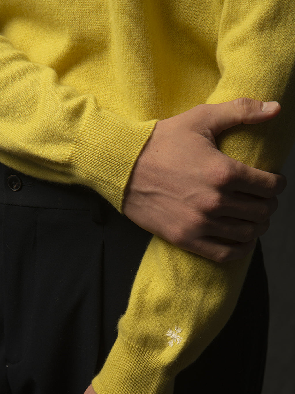 Men Crew Neck Sweater_Lime