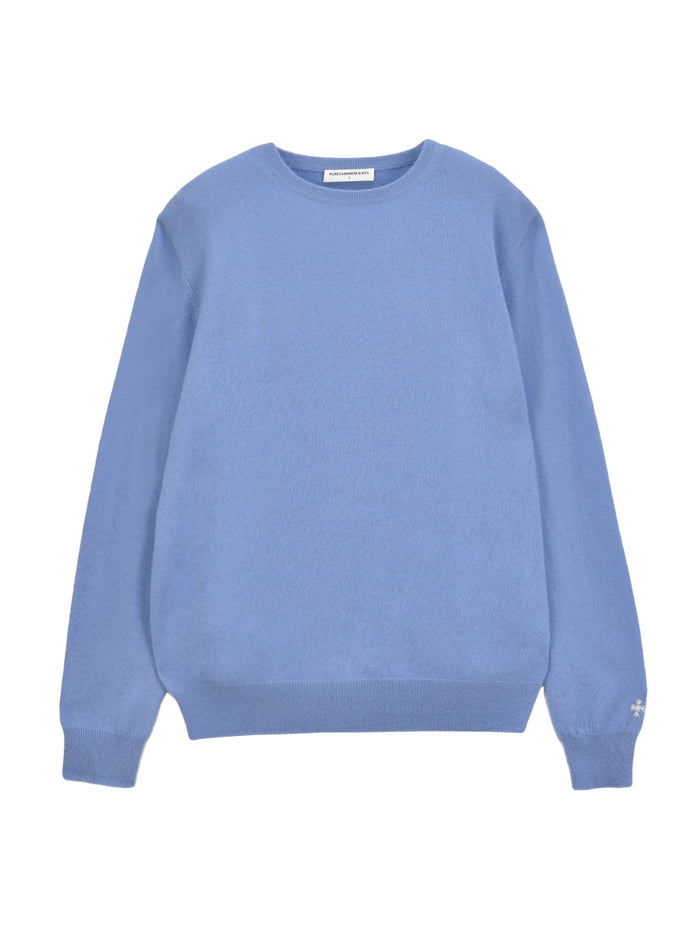 Men Crew Neck Sweater_Parade Blue