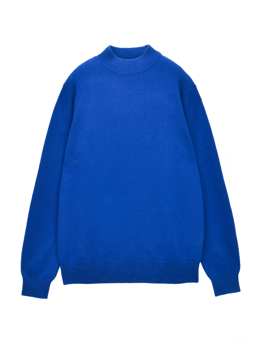 Men Mockneck Sweater_Royal Blue