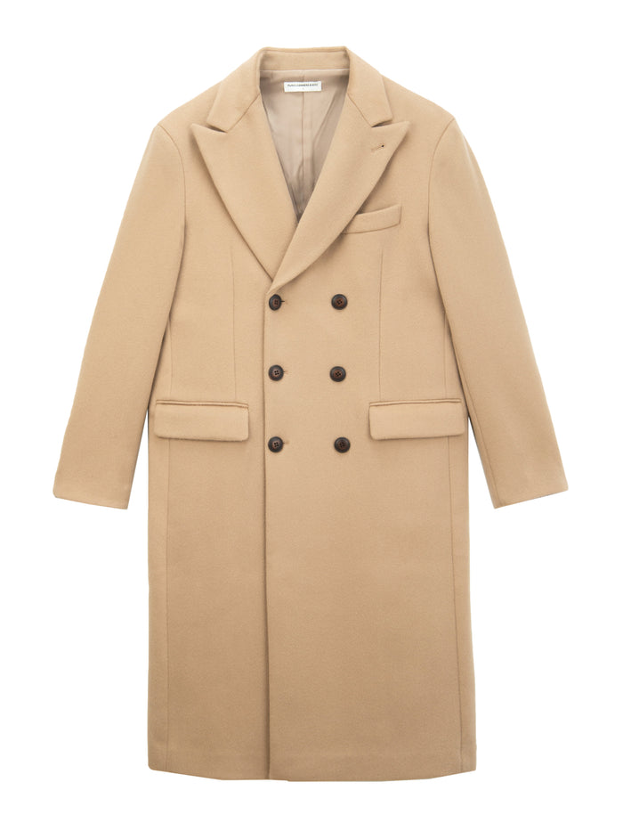 Men Tailored Double Breasted Coat_Camel