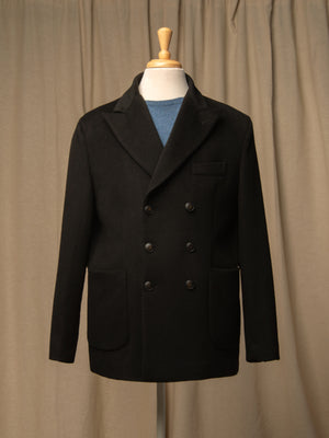 Men Tailored Double Breasted Jacket_Black