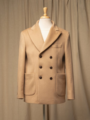 Men Tailored Double Breasted Jacket_Camel