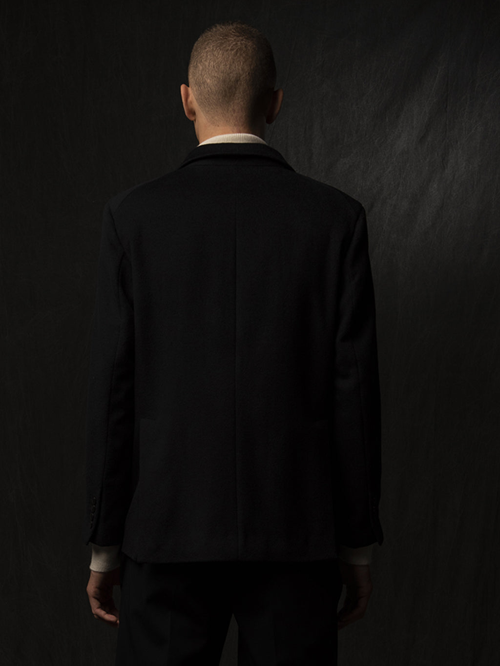 Men Tailored Double Breasted Jacket_Dark Navy