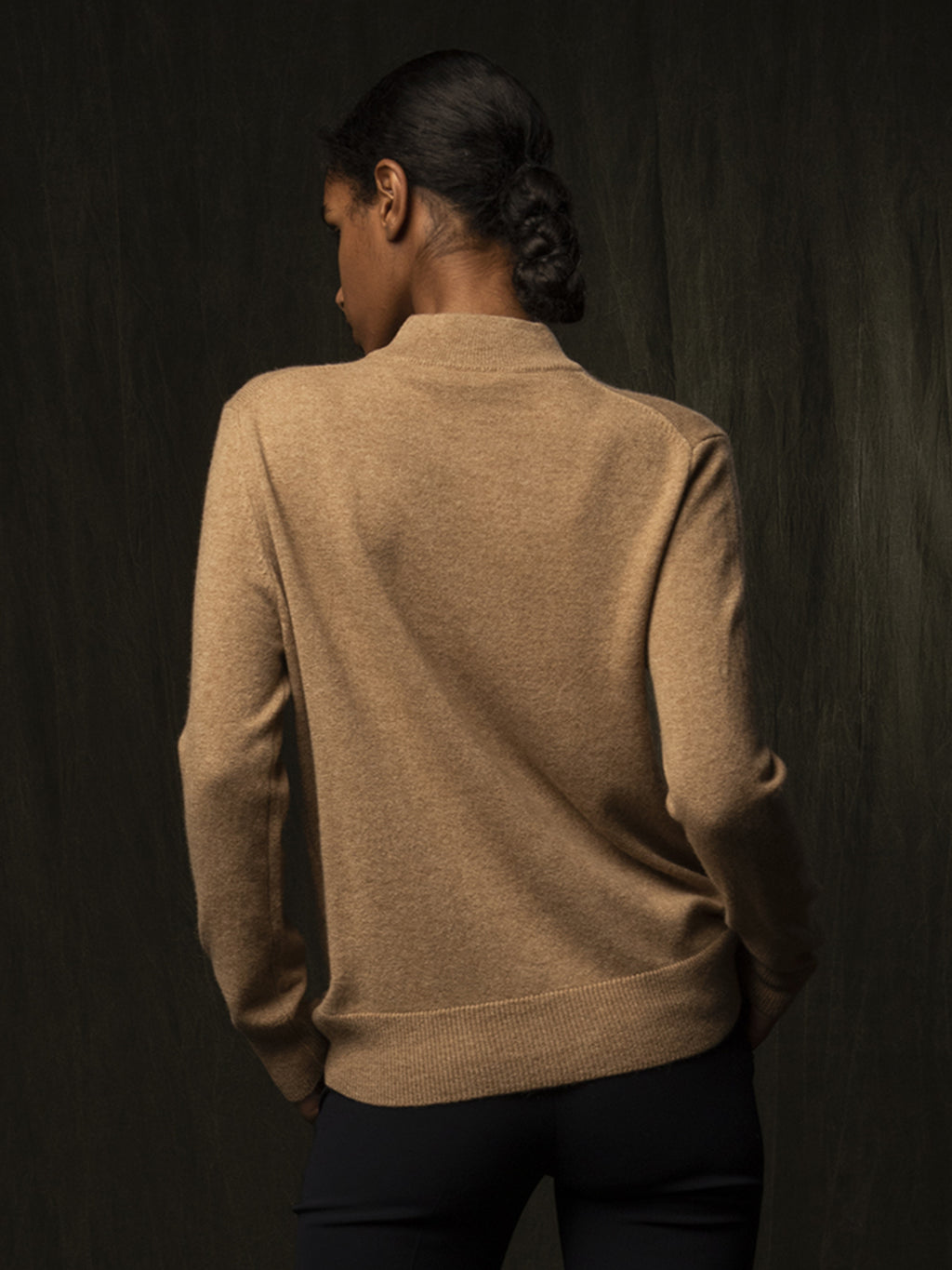 Mockneck Sweater_Beige