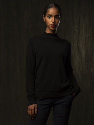 Mockneck Sweater_Black