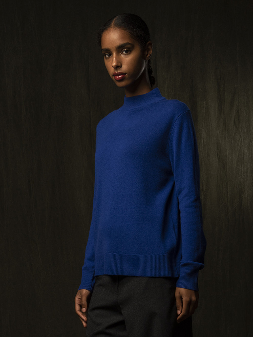 Mockneck Sweater_Royal Blue