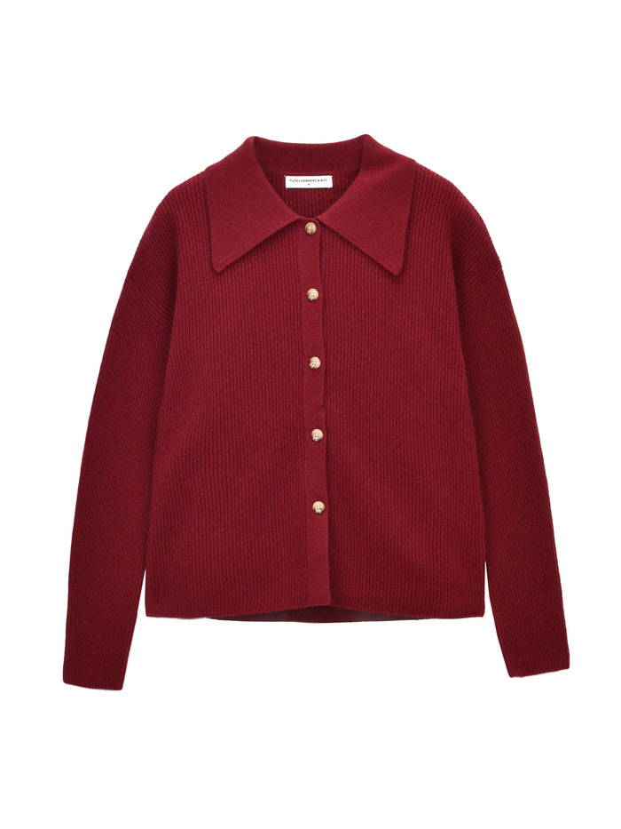 Polo Big Collar Sweater_Cherry