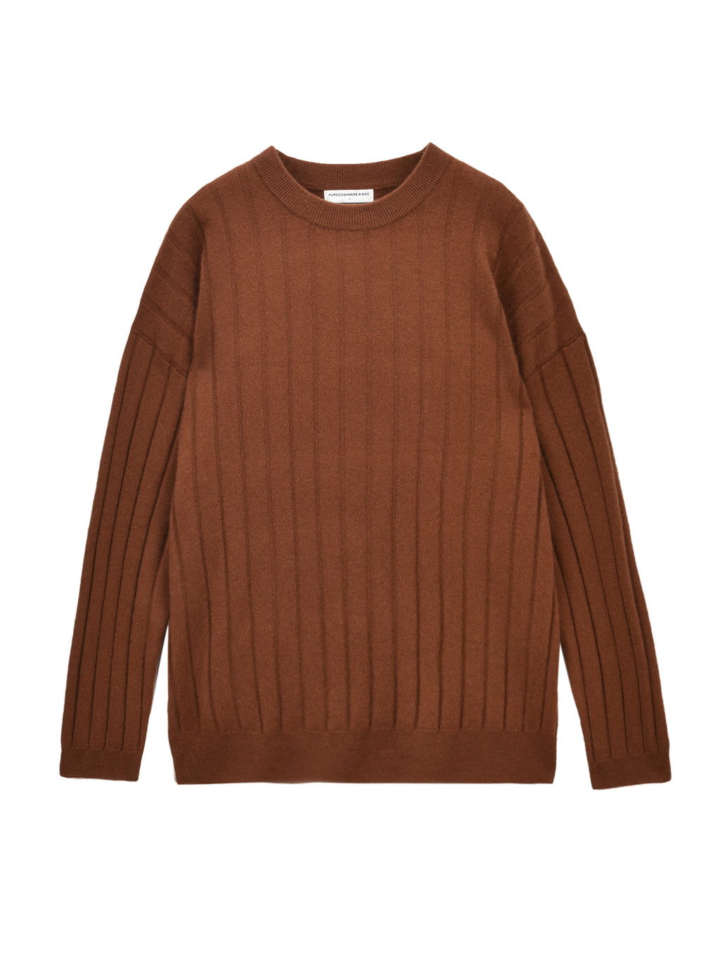 Ribbed Crew Neck Sweater_Sienna