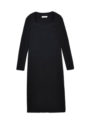 Square Neck Dress_Black