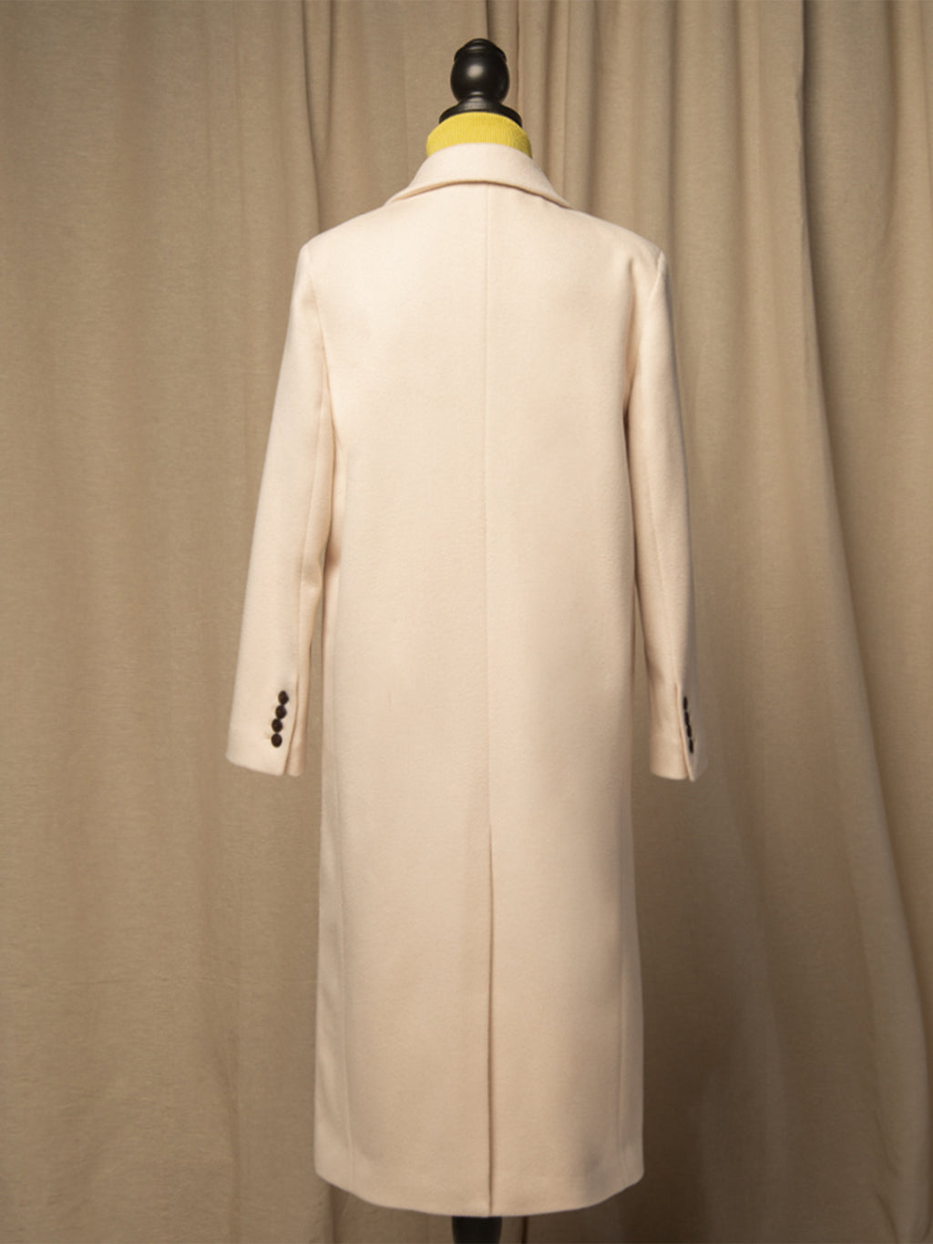 Tailored Double Breasted Coat_Light Beige