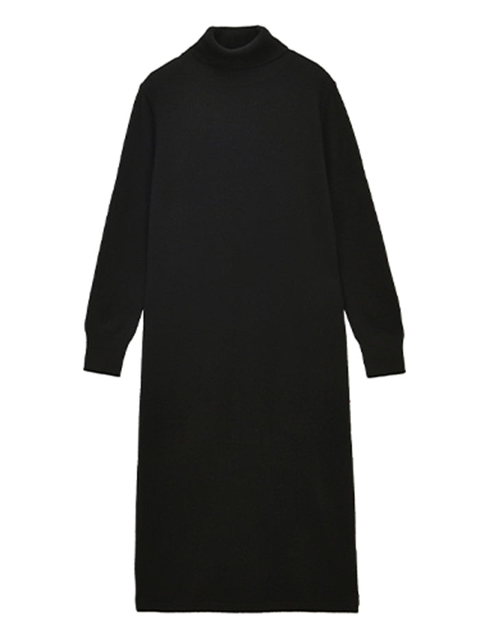 Turtleneck Maxi Dress_Black