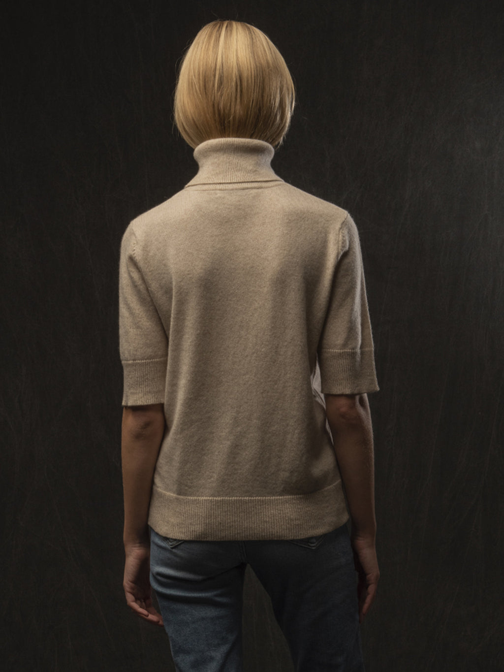 Turtleneck Shortsleeve_Oatmeal