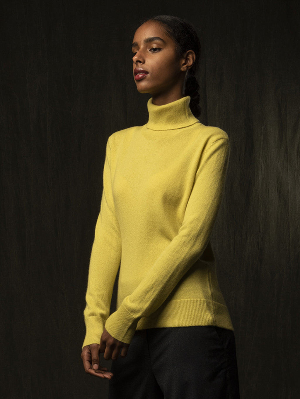 Turtleneck Sweater_Lime