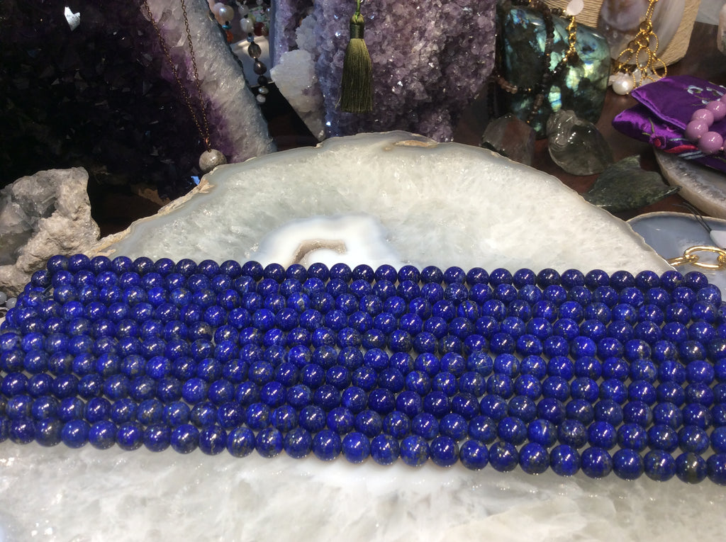 8mm natural lapis lazuli gemstone beads