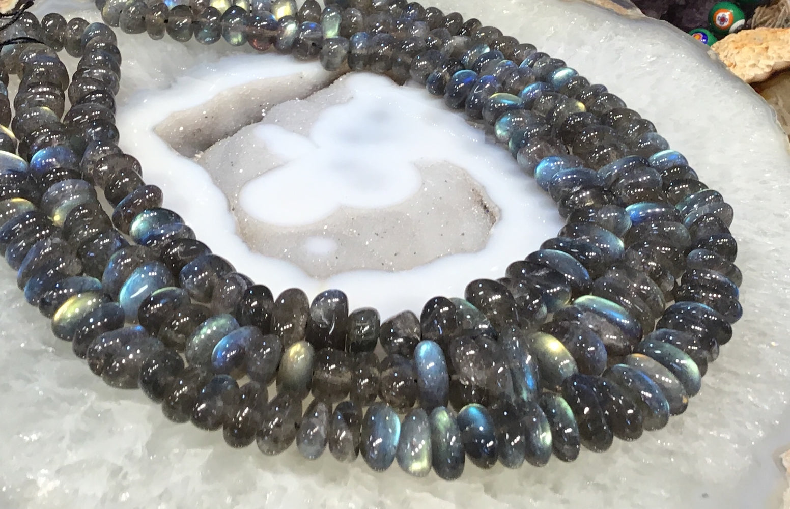 10-16mm Labradorite nugget gemstone beads  Top Quality!!