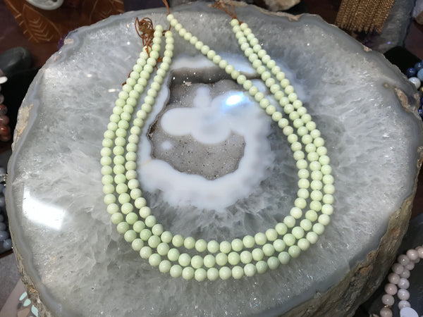 6mm Lemon Magnesite Gemstone Beads