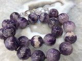 Chevron amethyst gemstone necklace